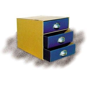συρταριερα χαρτινη α4 με 3 χρωματιστα συσρταρια και μεταλλικες λαβες next officeworld