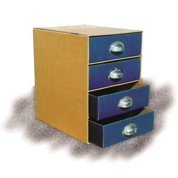 συρταριερα χαρτινη α4 με 4 χρωματιστα συσρταρια και μεταλλικες λαβες next officeworld